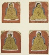 Four Miniature inscribed portraits of four Lamas