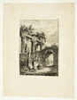 The Statue before the Ruins, plate three from Les Soirées de Rome