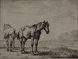 Two Plough Horses, plate seven from Series of Horses
