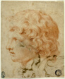 Head of Youth in Profile to Left (recto); Fragment of Figure Sketch (verso)