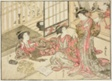 "Courtesans of Kado Daikokuya, from the book ""Mirror of Beautiful Women of the Pleasure Quarters (Seiro bijin awase sugata kagami),"" vol. 2"