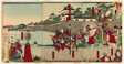 Lord Oda Nobunaga Viewing the Restoration of Kiyosu Castle (Oda Nobunaga ko Kiyosujo shuzen goran no zu)