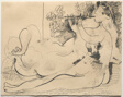 Double Flute Player and Reclining Nude