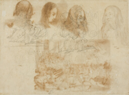 Six Sketches of a Chasseur Beside His Horse