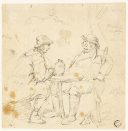 Two Men at a Table