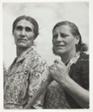 Mrs. John France, left, Mrs. Gottlieb Bauer Along the Road Near Bend