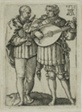 Two Musicians Playing the Violin and the Lute, plate one from the Small Wedding Dancers