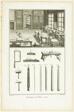 Wood Engraving, Tools, from Encyclopédie