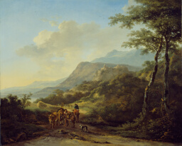 Italian Landscape with Travelers