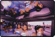 The Damas (Maids of Honor) go from the Church to the Reception in a Ford Explorer limousine at Ruby's Quinceanera, Huntington Park, California