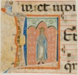 "Female Saint in a Historiated Initial ""L"" from a Choir Book"