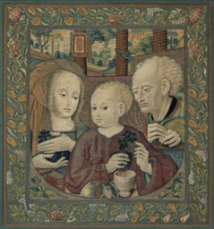 The Holy Family with the Infant Christ Pressing the Wine of the Eucharist