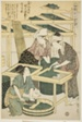"""No. 3 (san), from the series """"Women Engaged in the Sericulture Industry (Joshoku kaiko tewaza-gusa)"""""""