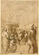 Study for Pope Innocent III Establishing the Franciscan Order