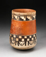 Beaker with Bands of Geometric Motifs