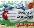First Test Match Lord's, England versus West Indies