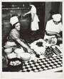 Cook and Kitchenmaids Preparing Dinner