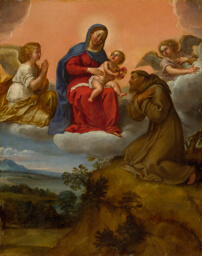 Virgin and Child Adored by Saint Francis