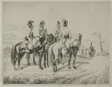 Four Cuirassiers on an Incline