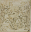 Study for the Duel between Heraclius and Khosrau (recto); Sketches of Seated Figure (verso)