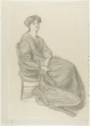 Mrs. William Morris Seated in Chair