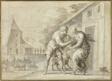 The Goatherd Lamon Handing the Infant Daphnis to his Wife Myrtele