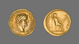 Aureus (Coin) Portraying Emperor Tiberius