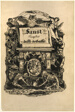 Portrait Medallion of Goethe, title page from Faust