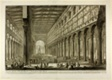 Cut-away view of the interior of the Basilica of S. Paolo fuori delle Mura [St. Paul outside the Walls], from Views of Rome