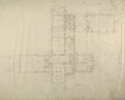 """Windway"" W. J. Kohler Farm, Kohler, Wisconsin, First Floor Plan"