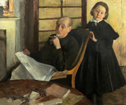 Henri Degas and His Niece Lucie Degas (The Artist's Uncle and Cousin)