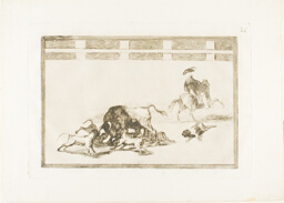 They Loose Dogs on the Bull, plate 25 from The Art of Bullfighting