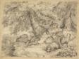 Shepherd Boy with Lambs in Woods