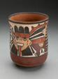 Beaker Depicting Ritual Figure Wearing Costume with Bird Attributes