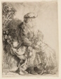 Abraham Caressing Isaac