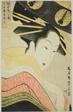 Misayama of the Chojiya, from the series Beauties of the Licensed Quarter (Kakuchu bijin kurabe)