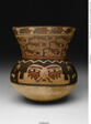 Beaker in the Form of a Head with Abstract Serpent-like Textile Pattern