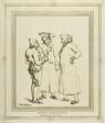 Dutch Merchants Sketched at Amsterdam