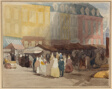 A French Market Scene, possibly Boulogne