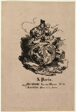 Portrait Medallion of Faust and Marguerite, publisher's sheet from Faust