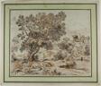 Figures in Idyllic Italianate Landscape