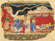The Infant Krishna Spirited Away by Vasudev, page from the Dispersed Bhagavatapurana manuscript