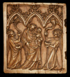 Diptych Panel with Virgin and Child and Two Angels