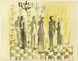 Figures in a Yellow Room