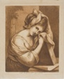 Woman Resting Her Head on a Book