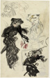 Sheet of Studies (recto); Woman Putting on Gloves (verso)