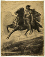 Man Riding a Horse through the Air