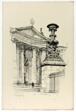 Le Vase du Pantheon, Paris, from Vingt Lithographies du Vieux Paris