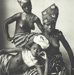 Three Dahomey Girls, One Reclining