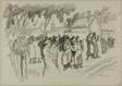 At Marolles, Paris 1914 (recto); Sketch of Woman Holding Child (verso)